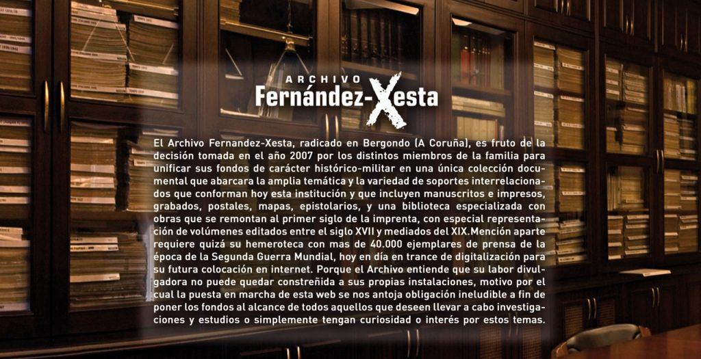 Cabecera de la Web del Archivo Fernández-Xesta.