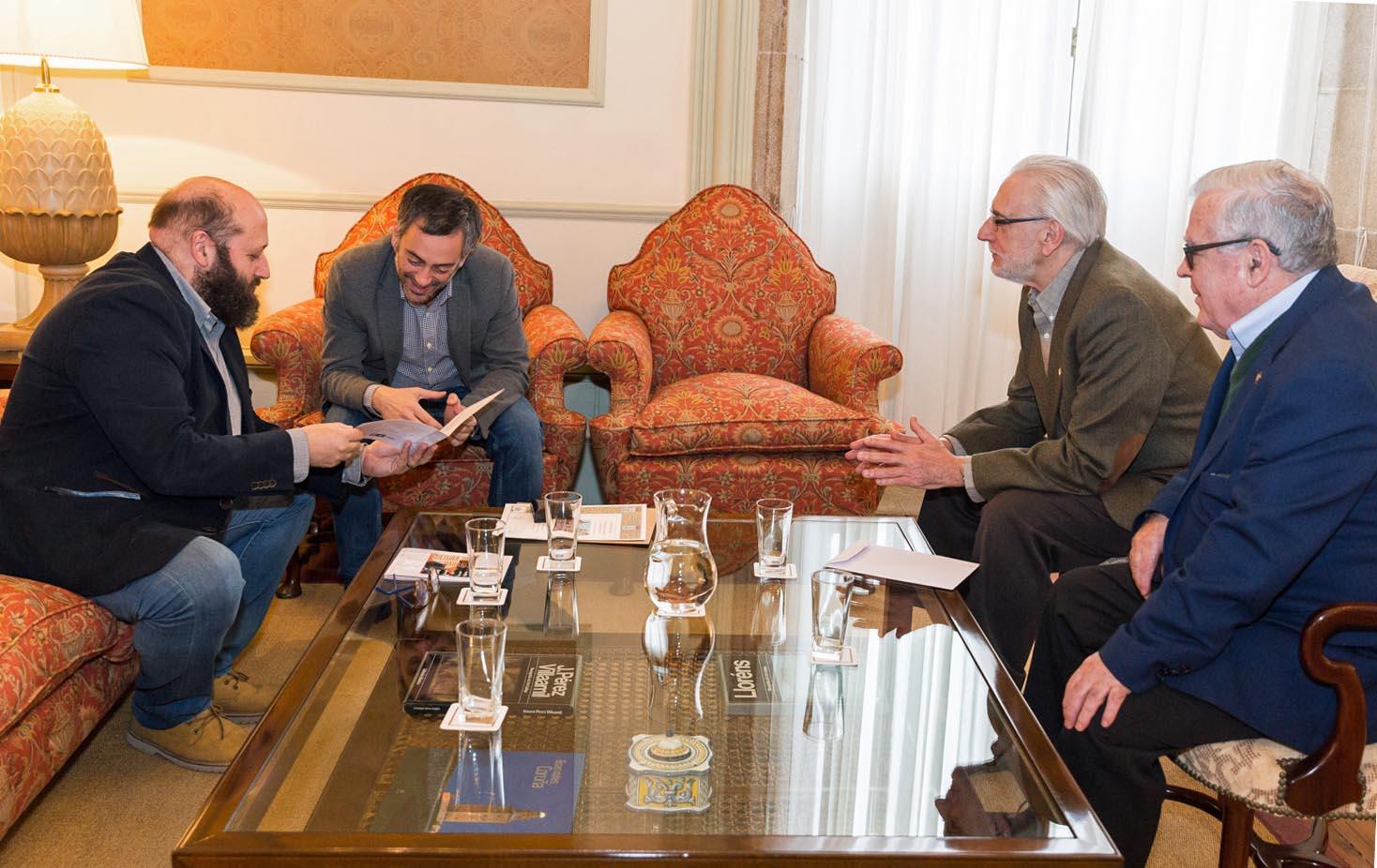 José Luis Rey, el Alcalde Xulio Ferreiro, Andrés García y José Manuel Barreiro.