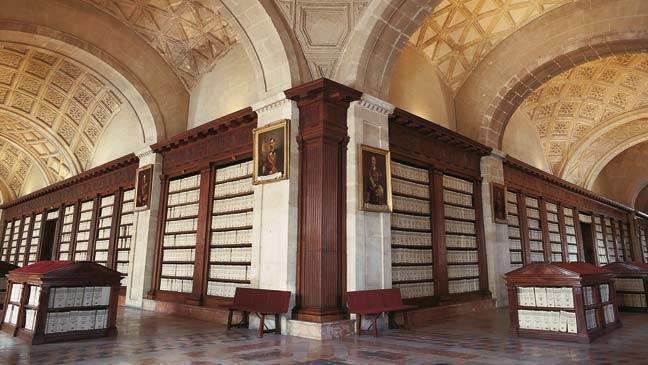 Galerías del Archivo General de Indias, que albergan la exposición 'La carta en el camino'