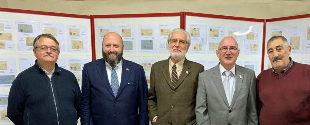 De izquierda a derecha, Miguel Maestro, José Luis Rey, Andrés García, Órlando Pérez y Joaquín Ochoa. Todos miembros de nuestra Sociedad.