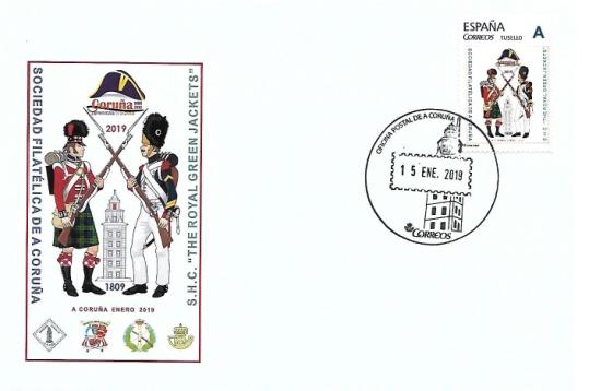 Sobre y sello conmemorativo
