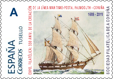 Sello Falmouth-Coruña
