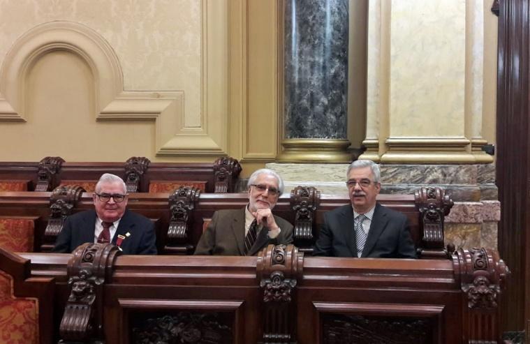 José Barreiro, Andrés García y Francisco Mariño