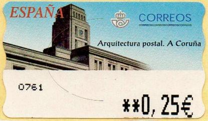 Etiqueta Edificio Correos Coruña
