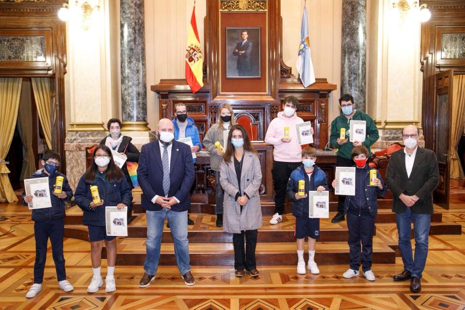 Participantes en la entrega de premios