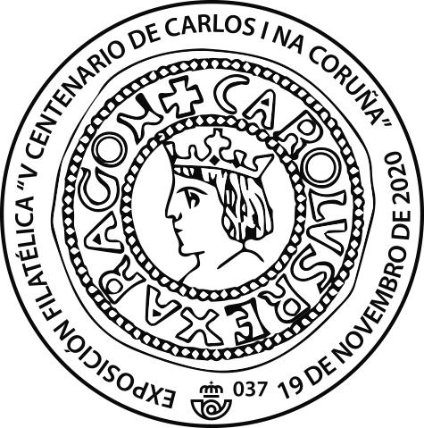Matasellos Conmemorativo de la Exposición V Centenario de Carlos I na