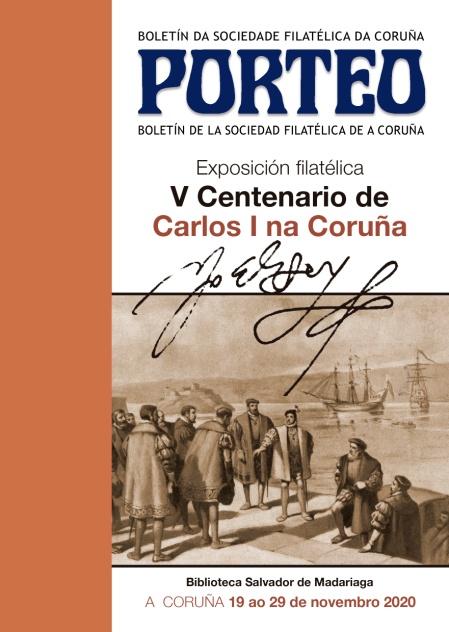2020 11 13 Portada del Porteo de la Exposición V Centenario de Carlos I na Coruña