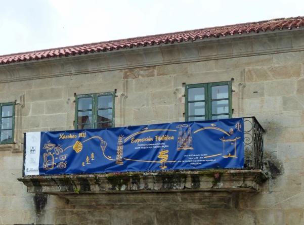 Pancarta Centro Cultural en Pontedeume
